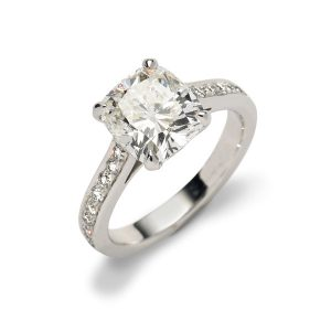 ENGAGEMENT-RING-Cushion-cut-diamond-with-pave-band-engagement-ring-2