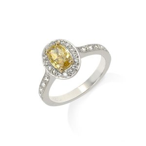 ENGAGEMENT-RING-Fancy-Yellow-Oval-diamond-with-pave-band-engagement-ring